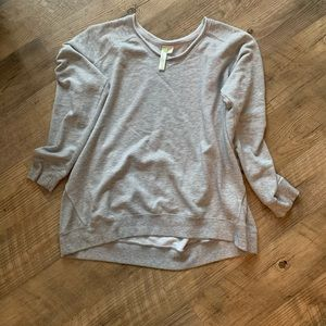 Green Tea gray v-neck sweatshirt XXL